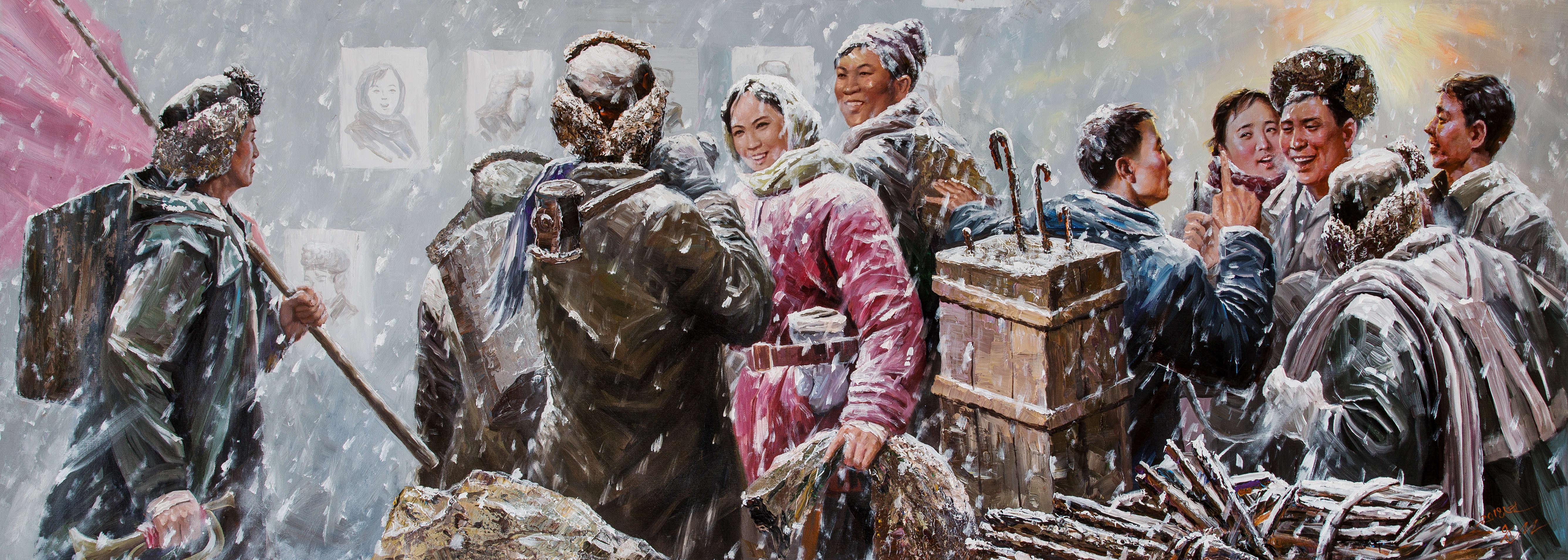 大胆人体艺术写真189_【当代朝鲜油画精品展】朝鲜艺术:在场即价值