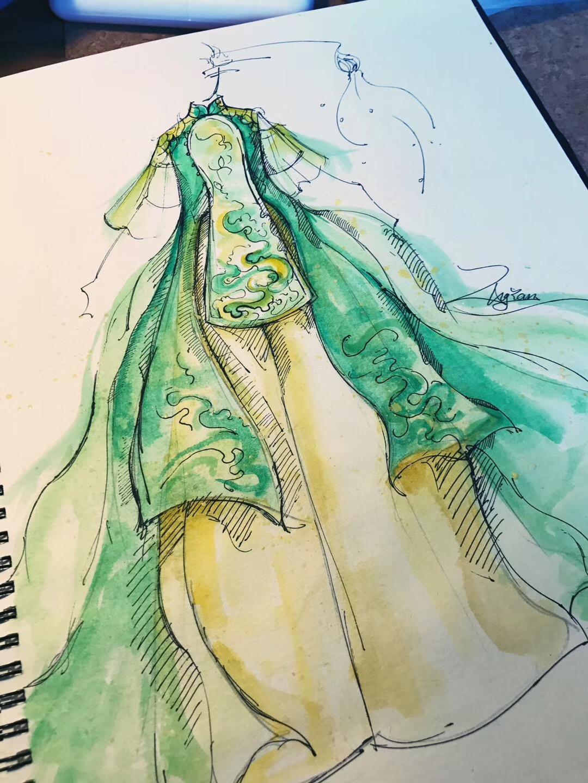 张彦的手绘设计图